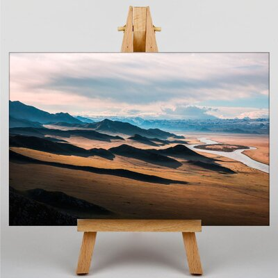 Big Box Art Mountain Landscape No.5 Photographic Print Wrapped on Canvas