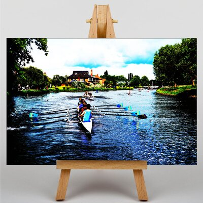 Big Box Art Rowers Rowing Cambridge Photographic Print on Canvas