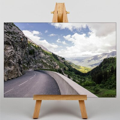 Big Box Art Mountain Road Curve Photographic Print on Canvas