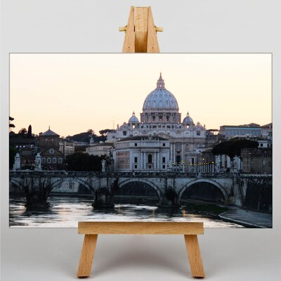 Big Box Art St. Peters Basilica Rome Italy Photographic Print Wrapped on Canvas