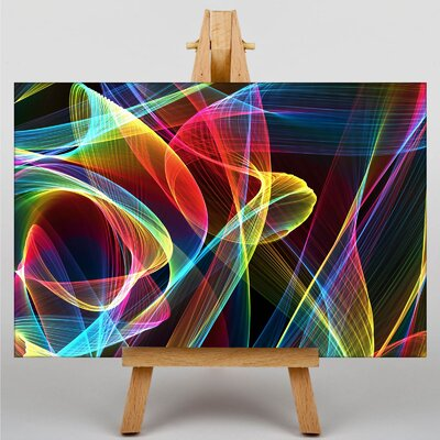 Big Box Art Smoke and Flames Abstract No.4 Graphic Art on Canvas