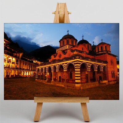 Big Box Art Rila Monastery Bulgaria No.2 Photographic Print Wrapped on Canvas