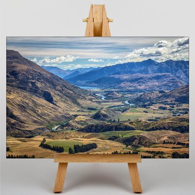 Big Box Art New Zealand Scenery No.5 Photographic Print on Canvas