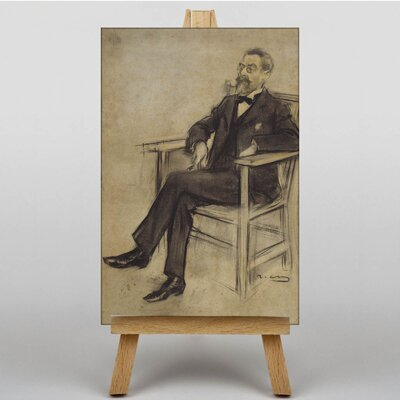 "Big Box Art ""Eusebi Corominas"" by Ramon Casas i Carbo´ Art Print Wrapped on Canvas"