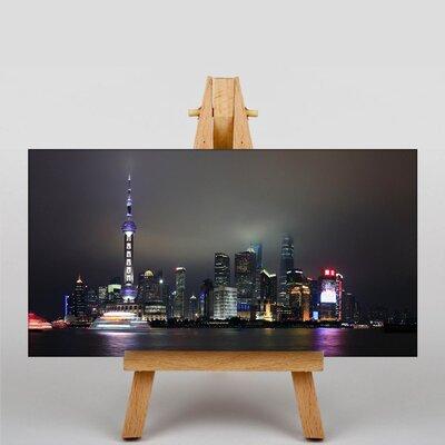 Big Box Art Shanghai China Skyline No.1 Photographic Print Wrapped on Canvas
