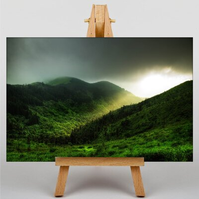 Big Box Art Light over Mountains Photographic Print on Canvas