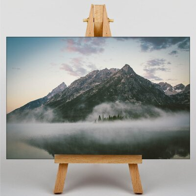 Big Box Art Misty Mountain Photographic Print Wrapped on Canvas