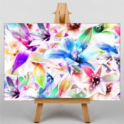 Big Box Art Mixed Colour Orchid Flower Graphic Art Wrapped on Canvas