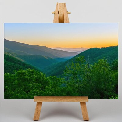 Big Box Art The Great Smoky Mountains USA No.2 Photographic Print Wrapped on Canvas