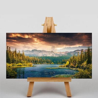 Big Box Art Mountain Landscape Photographic Print Wrapped on Canvas
