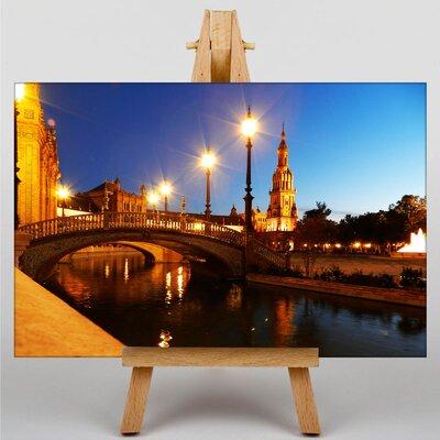 Big Box Art Plaza Espana Seville Spain Photographic Print Wrapped on Canvas