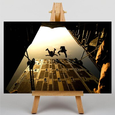 Big Box Art Skydiving Soldiers No.2 Photographic Print on Canvas