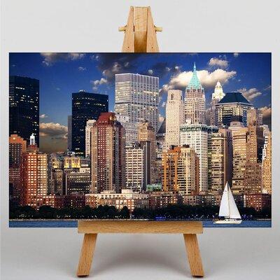 Big Box Art New York Manhattan Sailing Boat Photographic Print on Canvas