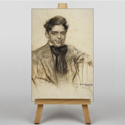"""Big Box Art """"Llui´s Bagaria"""" by Ramon Casas i Carbo´ Art Print Wrapped on Canvas"""