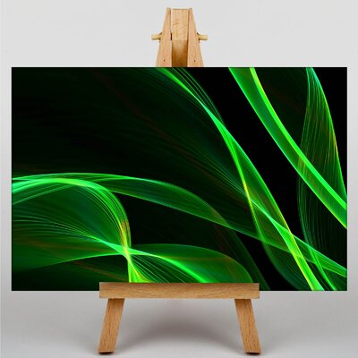 Big Box Art Smoke and Flames Abstract No.14 Graphic Art Wrapped on Canvas