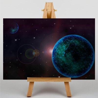 Big Box Art Space Planets No.8 Graphic Art on Canvas