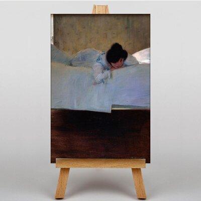 "Big Box Art ""Laziness"" by Ramon Casas i Carbo´ Art Print Wrapped on Canvas"