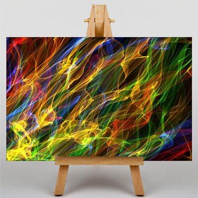 Big Box Art Smoke and Flames Abstract No.13 Graphic Art on Canvas