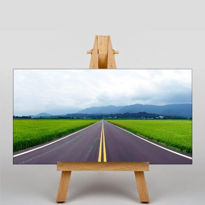 Big Box Art The Open Road Photographic Print Wrapped on Canvas