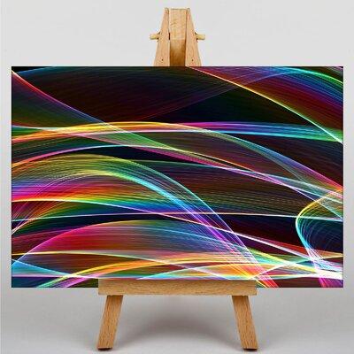 Big Box Art Smoke and Flames Abstract No.3 Graphic Art on Canvas