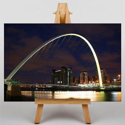 Big Box Art Millennium Bridge Newcastle No.3 Photographic Print Wrapped on Canvas