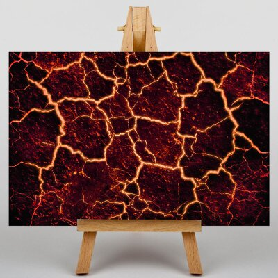 Big Box Art Lava Volcano Graphic Art Wrapped on Canvas