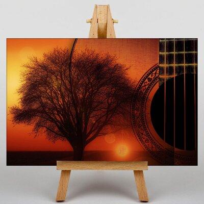 Big Box Art Guitar and Tree Graphic Art