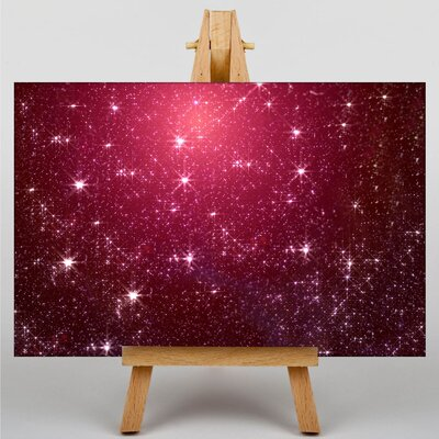 Big Box Art Pink Blurred Fairy Lights Abstract No.7 Graphic Art Wrapped on Canvas