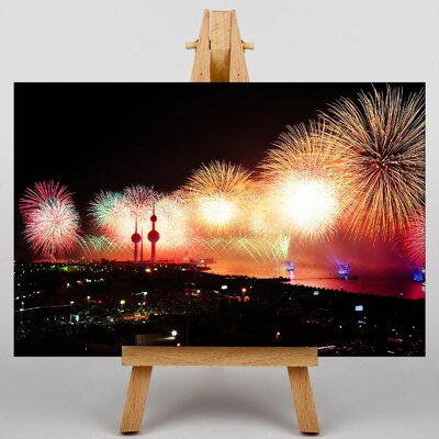 Big Box Art Kuwait Fireworks Graphic Art Wrapped on Canvas