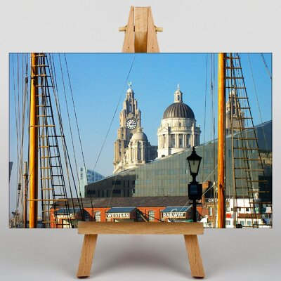 Big Box Art Docks Liverpool Framed Photographic Print on Canvas