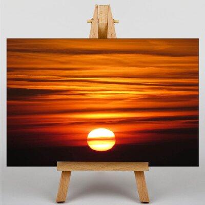 Big Box Art Sunset Framed Photographic Print on Canvas