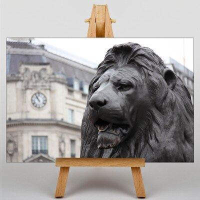 Big Box Art Trafalgar Square Lions London Photographic Print on Canvas