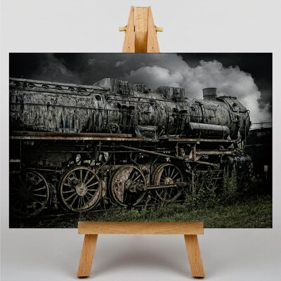 Big Box Art Vintage Steam Train No.1 Framed Photographic Print on Canvas