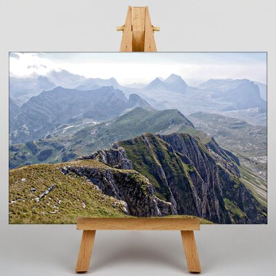 Big Box Art Big Mountain Ridge Photographic Print Wrapped on Canvas