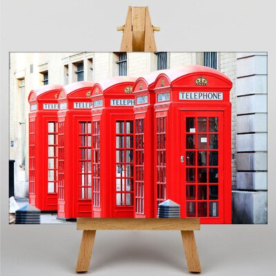 Big Box Art Old London Telephone Box Photographic Print on Canvas