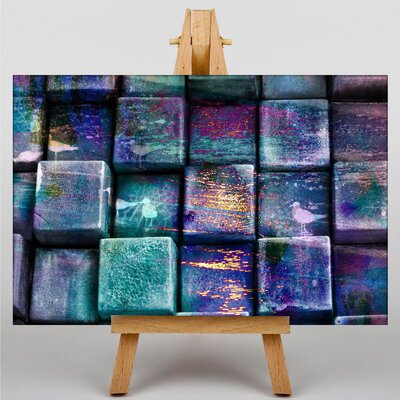 Big Box Art Cubes Abstract Graphic Art Wrapped on Canvas