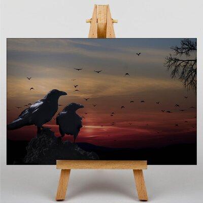 Big Box Art Crows Sundown Graphic Art on Canvas
