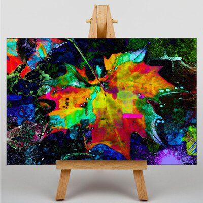 Big Box Art Leaf Abstract Graphic Art Wrapped on Canvas