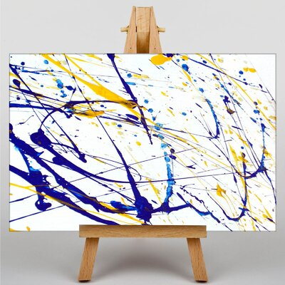 Big Box Art Colourful Paint Splash Abstract No.8 Graphic Art on Canvas