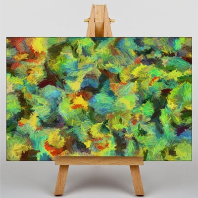 Big Box Art Colourful Paint Splash Abstract No.9 Art Print Wrapped on Canvas