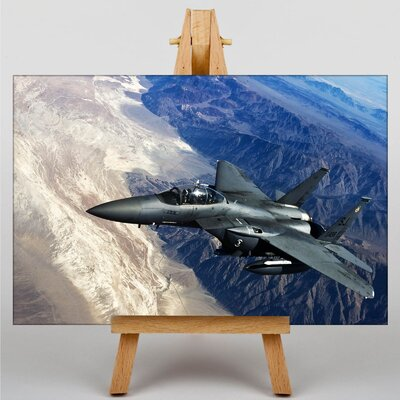 Big Box Art Fighter Jet No.8 Photographic Print on Canvas