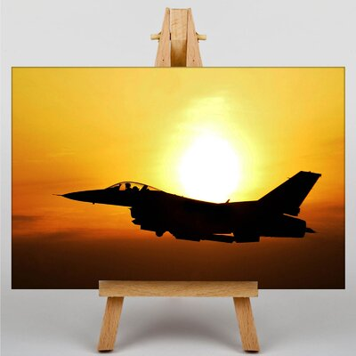 Big Box Art Fighter Jet No.1 Photographic Print on Canvas