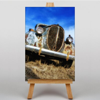 Big Box Art Vintage Classic Car Rusted No.6 Photographic Print Wrapped on Canvas