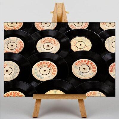 Big Box Art Records Vinyl Photographic Print on Canvas