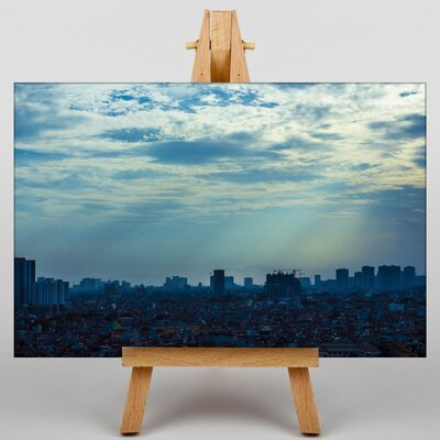 Big Box Art Dusk Approaches Photographic Print Wrapped on Canvas