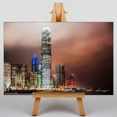 Big Box Art Hong Kong City Skyline China No.4 Photographic Print on Canvas