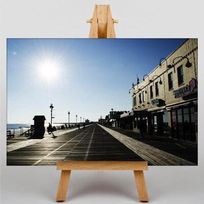 Big Box Art New Jersey Shore Boardwalk USA Photographic Print on Canvas