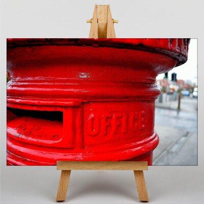 Big Box Art Postbox England No.2 Photographic Print on Canvas