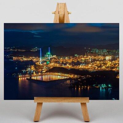 Big Box Art Hong Kong City Skyline China No.6 Photographic Print on Canvas