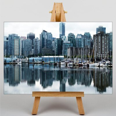Big Box Art Vancouver Skyline City Canada No.7 Photographic Print on Canvas